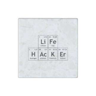 LiFe HAcKEr Chemistry Elements Periodic Table Word Stone Magnet