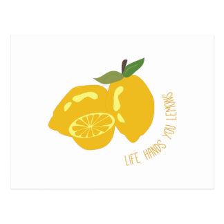 Life Hands Lemons Postcard