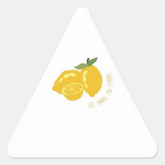 Life Hands Lemons Triangle Sticker