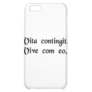 Life happens. Live with it. iPhone 5C Covers