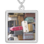 Life has a lot of baggage 2 square pendant necklace