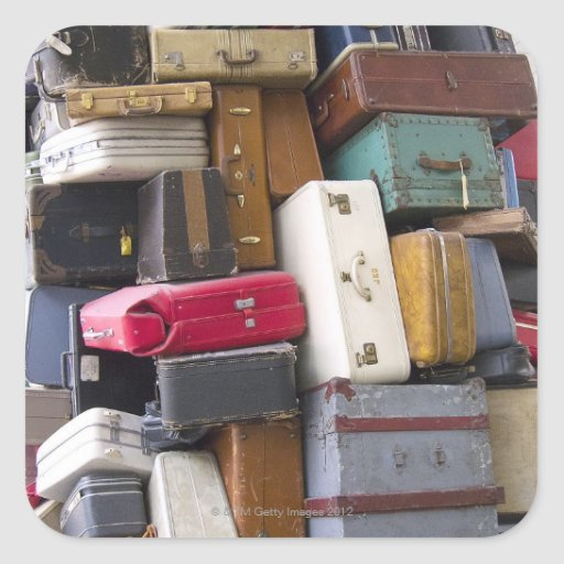 Life has a lot of baggage 2 square stickers