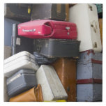 Life has a lot of baggage large square tile