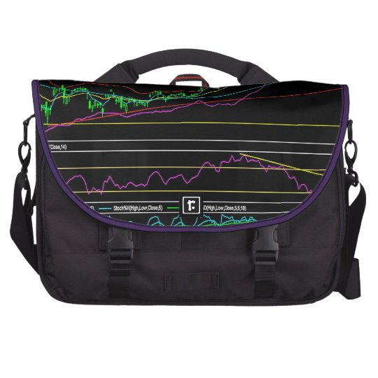Life Has It's Ups & Downs: Stock Market Chart Laptop Computer Bag