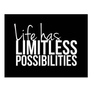 Life Has Limitless Possibilities Inspirational Postcard
