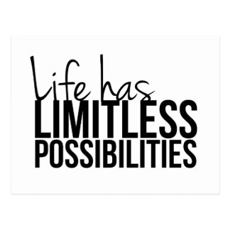 Life Has Limitless Possibilities Motivational Postcard