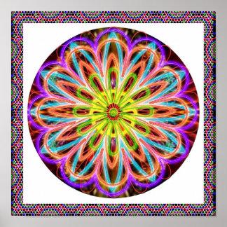 Life Healing Purple Star : Meditation Chakra Poster
