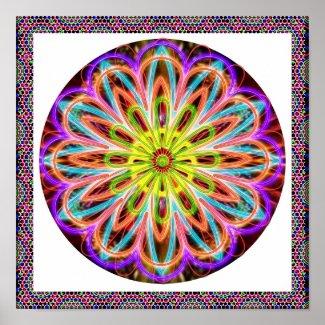 Life Healing Purple Star : Meditation Chakra Posters