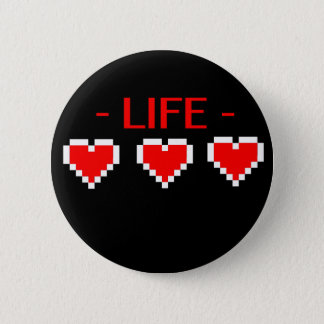 Life Hearts Pinback Button