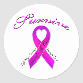 Life Hope Courage > Find A Cure Classic Round Sticker