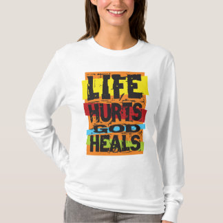 Life Hurts God Heals Christian Hooded Sweatshirt