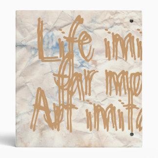 Life Imitate Art Vintage Paper Binder