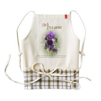 Life in a Garden Iris Zazzle Heart Apron