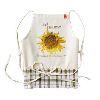 Life in a Garden Sunflower Zazzle Heart Apron