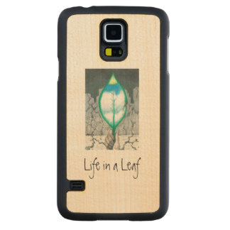 Life in a Leaf (slim) Carved Maple Galaxy S5 Case