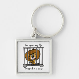 Life in cage Key ring Keychain