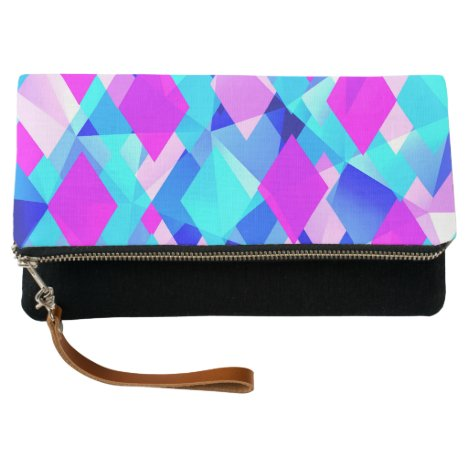 Life in Color Modern Abstract Clutch