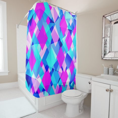 Life in Color Modern Abstract Shower Curtain