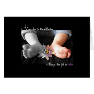 Life in color stationery note card