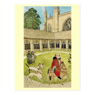 Life in Merry England, Canterbury cathedral cloist Postcard