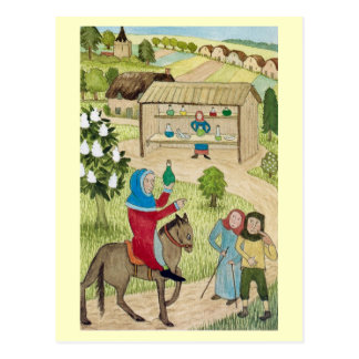 Life in Merry England, Refreshments for travellers Postcard