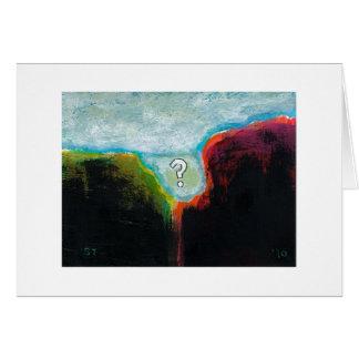 Life in the Abscess original abstract modern art Card