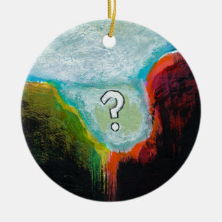Life in the Abscess original abstract modern art Ceramic Ornament
