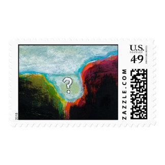 Life in the Abscess original abstract modern art Postage