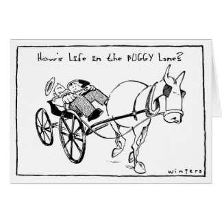 Life in the Buggy Lane Greeting Cards