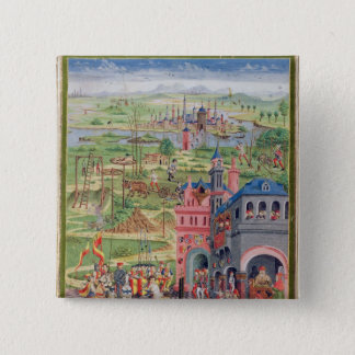 Life in the City and Life in the Country Pinback Button