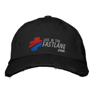 Life in the Fast Lane Hat (Dark) Embroidered Hats