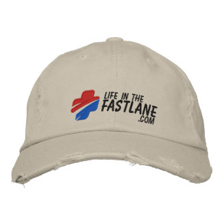 Life in the Fast Lane Hat (Light) Embroidered Baseball Caps