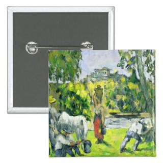 Life in the Fields, c.1875 (oil on canvas) 2 Inch Square Button