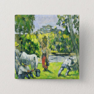 Life in the Fields, c.1875 (oil on canvas) Pinback Button