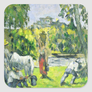 Life in the Fields, c.1875 (oil on canvas) Square Sticker