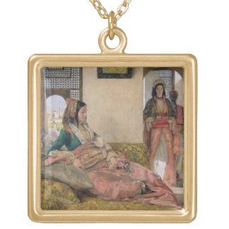 Life in the harem, Cairo Square Pendant Necklace