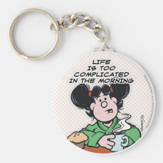 Life In The Morning Keychain