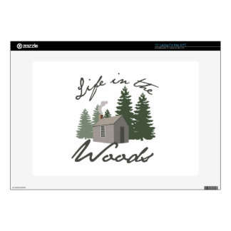 "Life in the Woods Decal For 15"" Laptop"