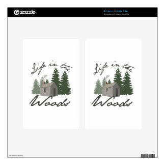 Life in the Woods Decal For Kindle Fire