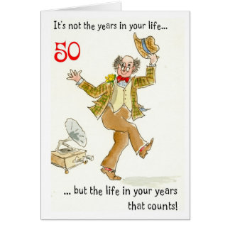 'Life in Your Years' 50th Birthday Card