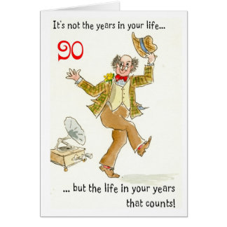 'Life in Your Years' 90th Birthday Card