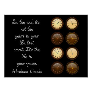 Life in Your Years - Lincoln quote - art print