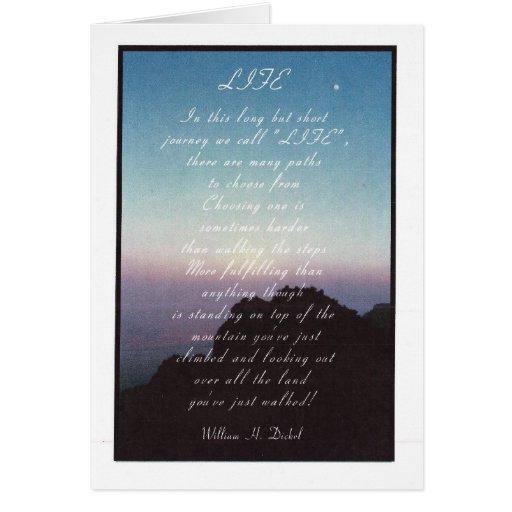 """""""Life"""" Inspiration Card"""