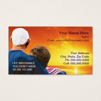 © life insurance.h7 business card