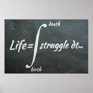 Life Integral - Math Poster