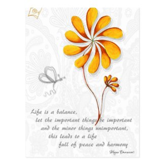 Life is a Balance Inspirational Postcard