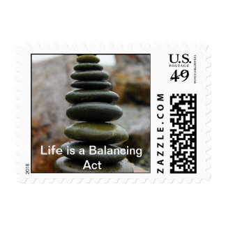 Life is a Balancing Act ~ Custom Postage Stamp