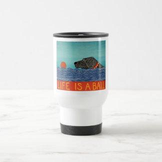 Life is a ball -Travel Mug-Stephen Huneck Travel Mug