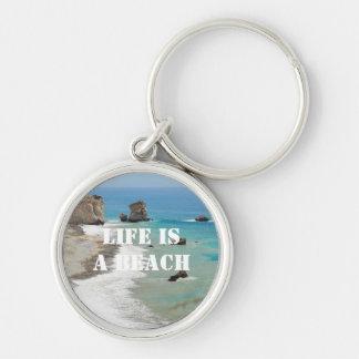 Life Is A Beach Keychain