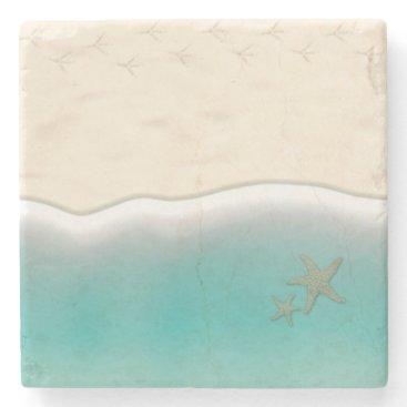 Beach Themed Life is a Beach Stone Coaster